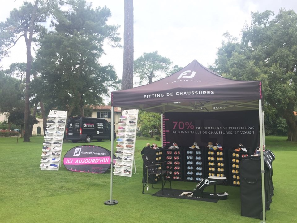 FootJoy golf shoes and textile displays 2