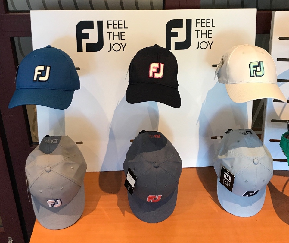 FootJoy golf shoes and textile displays 10