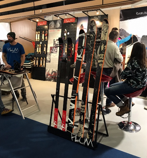 Plum ski accessories displays
