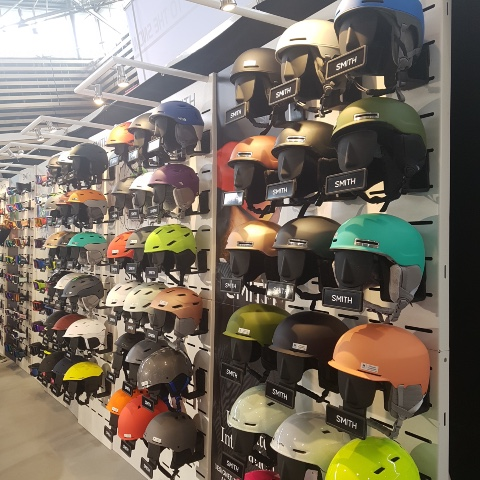 Smith ski helmets googles displays