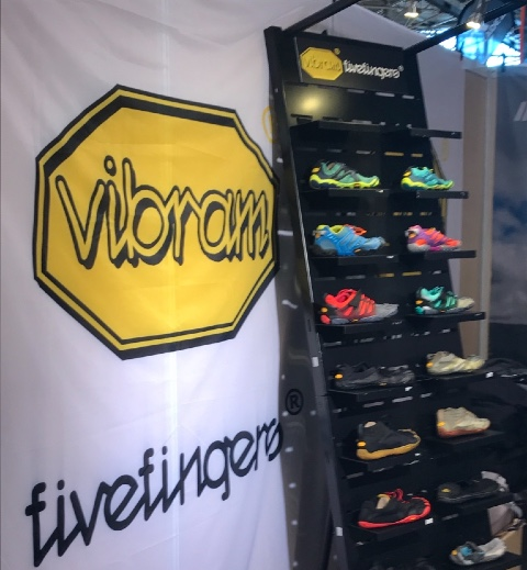 Vibram shoes display