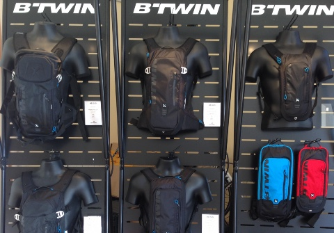 BTwin cycle textiles bags displays