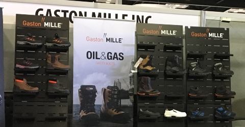 Gaston Mille security shoes displays