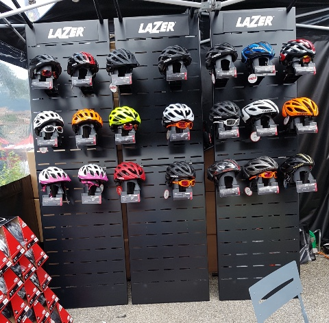 Lazer cycle helmets displays