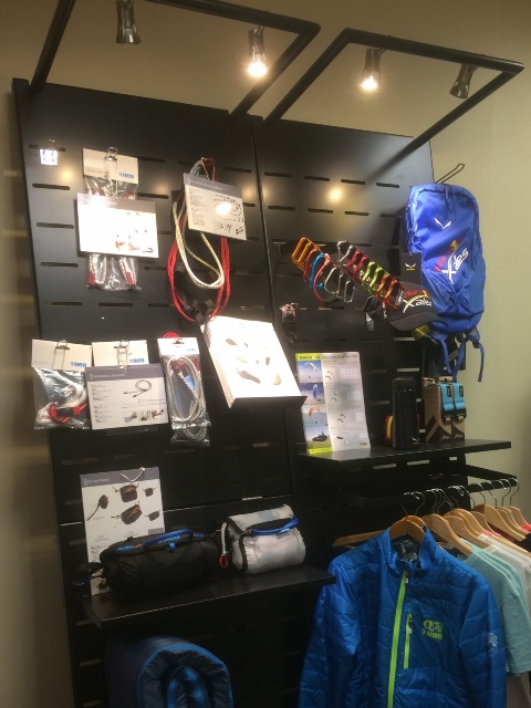 Fly Neo textiles paraglider accessories displays