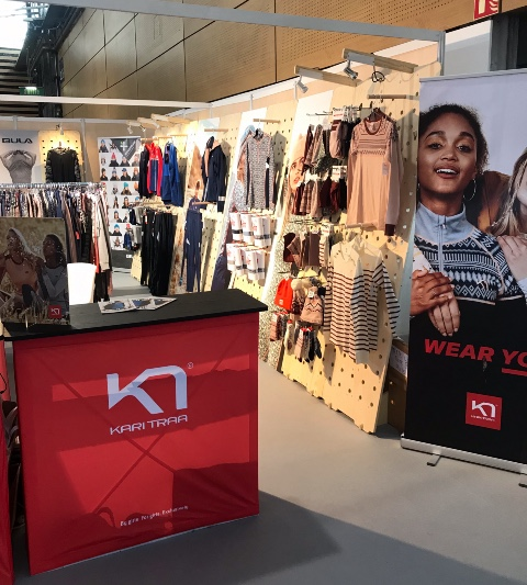 Kari Traa textiles displays