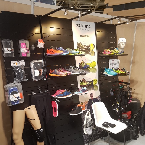 Salming running shoes displays