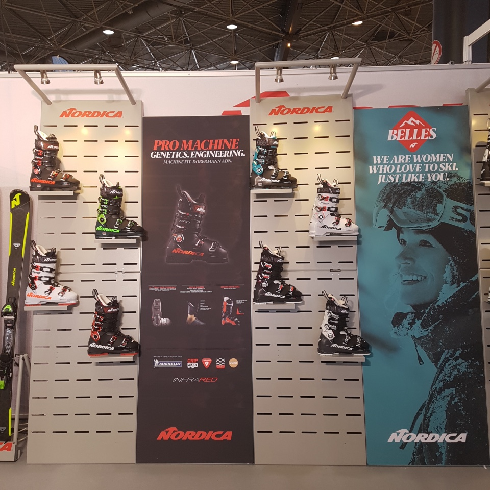 Nordica skis and shoes displays 3