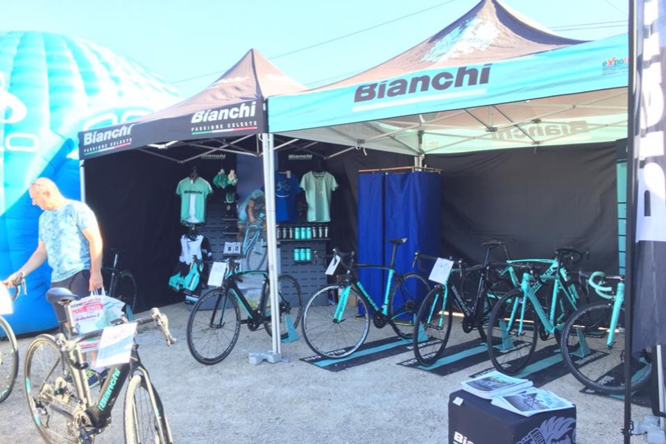 Bianchi cycle accessories displays