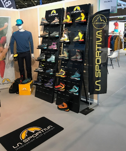 La Sportiva shoes displays