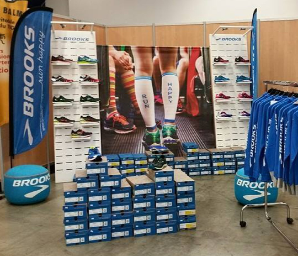 Brooks running shoes display 4