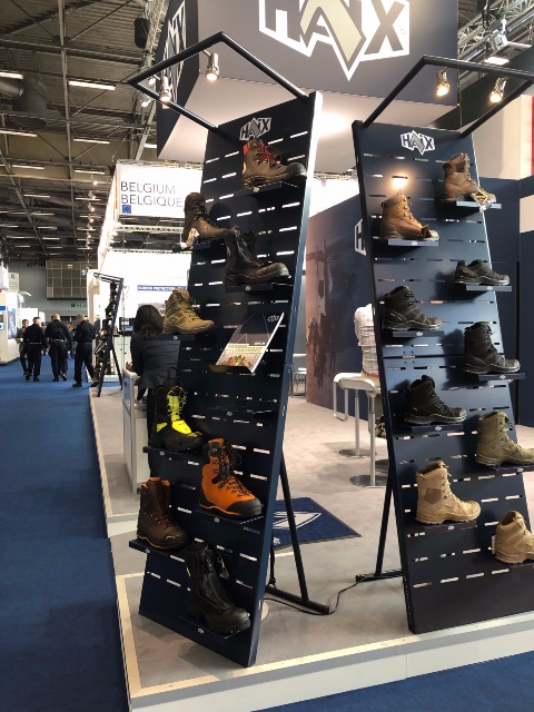 Haix safety shoes display