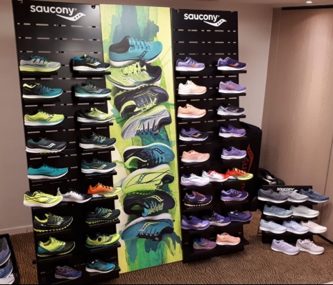 Saucony shoes displays