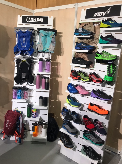 Plein Nord shoes sports accessories bags displays