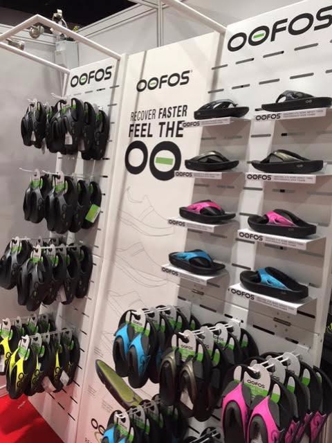 Oofos shoes displays