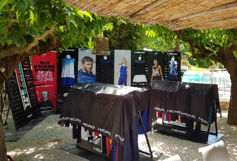 Head Tennis Padel displays