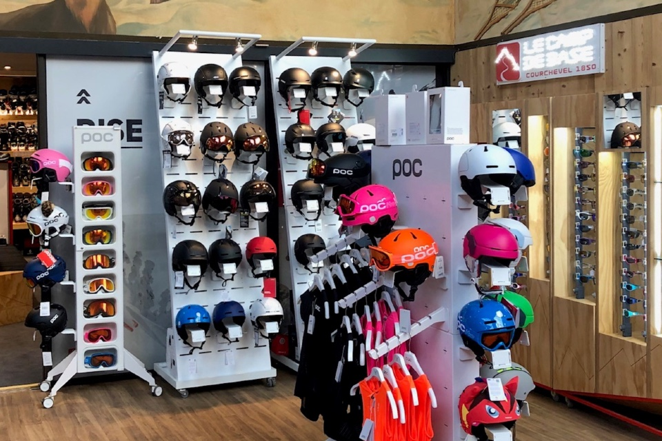 Le Camp De Base helmets displays