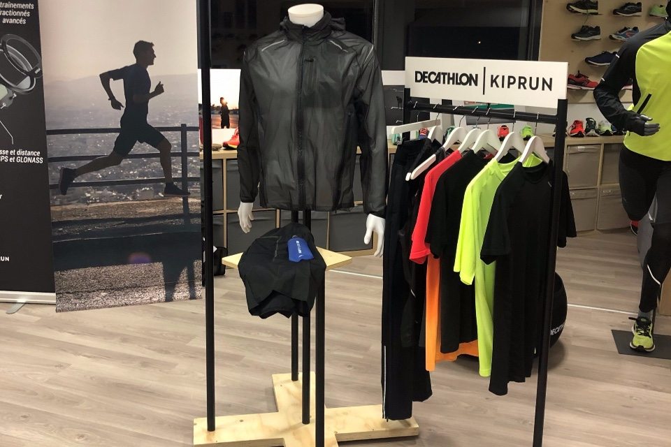 Decathlon Kiprun textile running shoes displays