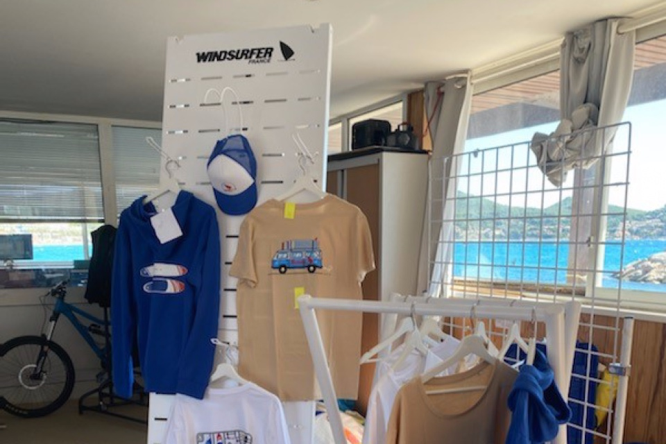 Windsurfer textile displays