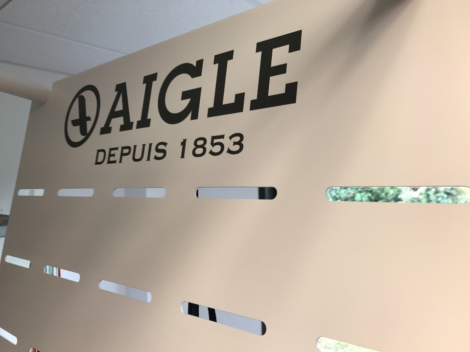 Aigle textiles shoes boots displays 3