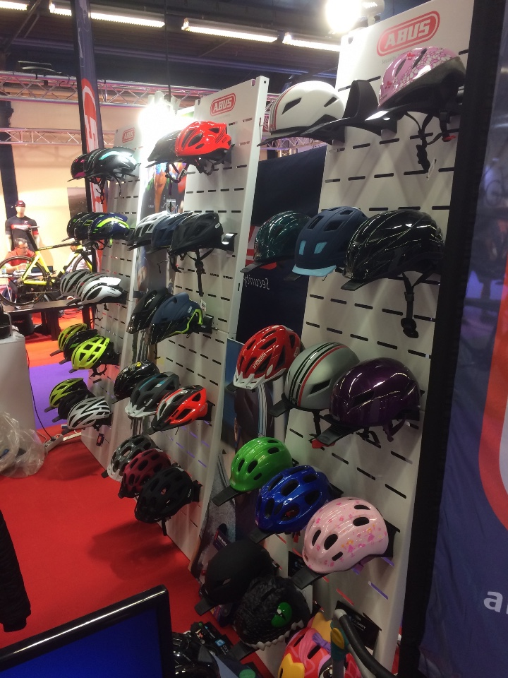 Abus cycle helmets displays 1