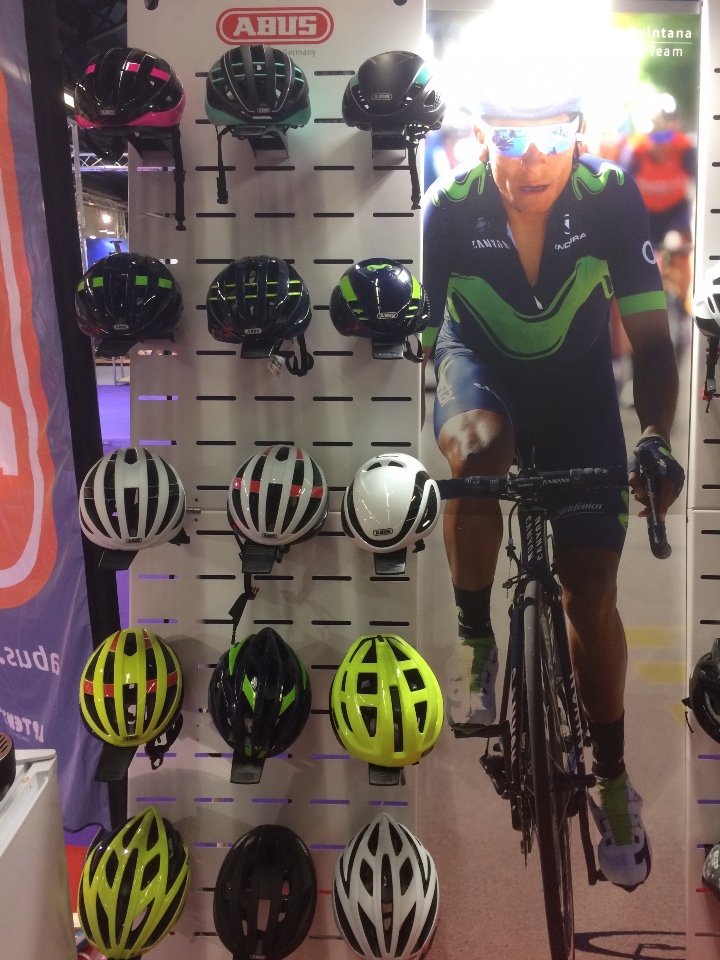 Abus cycle helmets displays 2