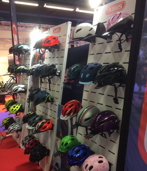 Abus cycle helmets displays