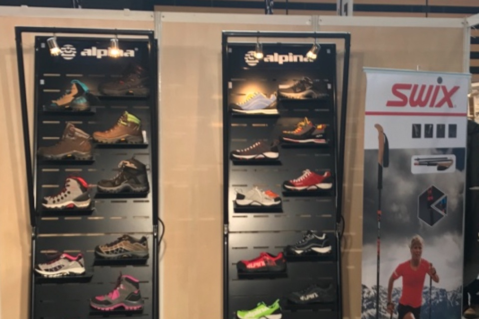 Alpina shoes displays