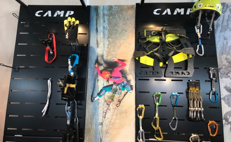 Camp helmets mountain accessories displays 2
