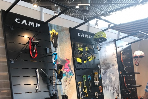 Camp helmets mountain accessories displays